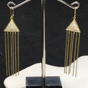 NWT AHC Triangle Drop Earrings